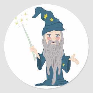 Magician Round Sticker