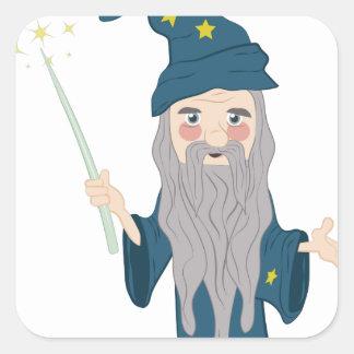 Magician Square Sticker