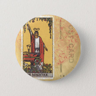 Magician Tarot Card Fortune Teller Postcard 2 Inch Round Button