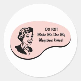 Magician Voice Round Sticker