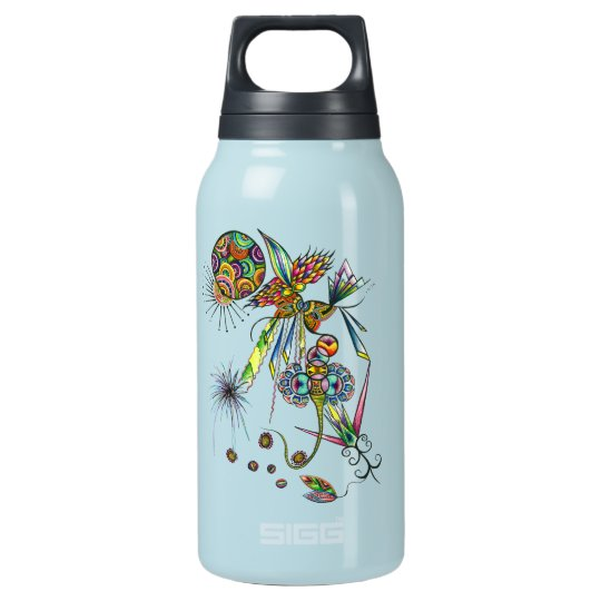 Magician - waterbottle psychedelic abstract unique insulated water bottle