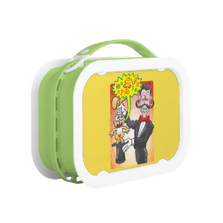 Magician's bunny feeling mad and saying bad words lunch boxes