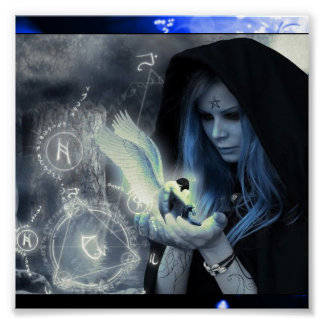 Magick In Her Hands Poster