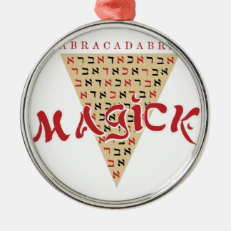 Magick Silver-Colored Round Ornament