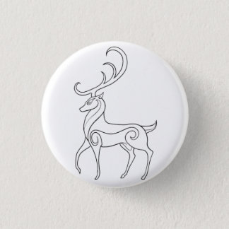 Magick - Stag 1 Inch Round Button