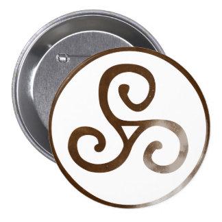 Magick - Triskele 3 Inch Round Button