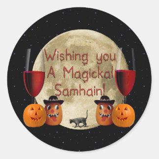 Magickal Samhain Round Sticker