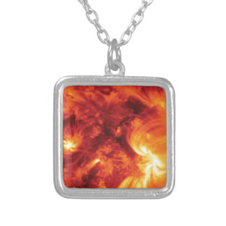 magma churn silver plated necklace