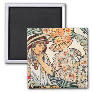 Magnet:  Art Nouveau - Language of Flowers Magnet