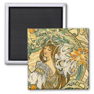 Magnet:  Art Nouveau - Language of Flowers Magnet