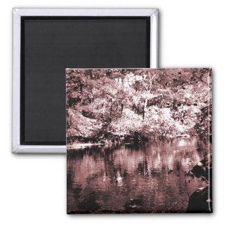 Magnet - Autumn Stream - Brown Halftone