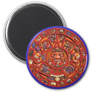Magnet: Aztec sun stone Magnet