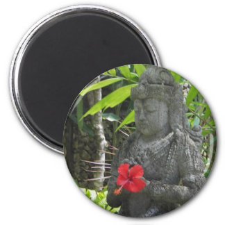 Magnet:  Bali Statue 2 Inch Round Magnet