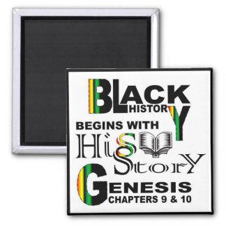 Magnet-Black History Begins With HiSStory© BlkBrdr Magnet