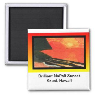 Magnet-Brilliant NaPali Sunset Magnet