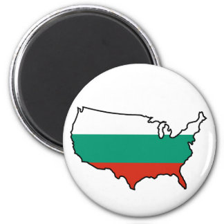 Magnet: Bulgarian in USA 2 Inch Round Magnet