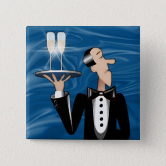 Magnet-Coctail Waiter 2 Inch Square Button