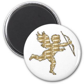 Magnet Cupid Gold Ribbed