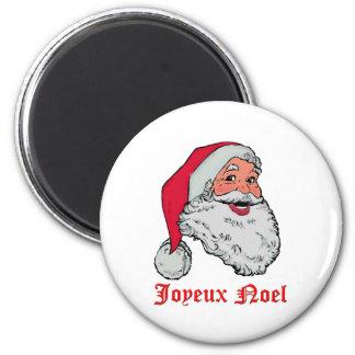 Magnet de Père Noël Joyeux Noel Magnet Rond 8 Cm