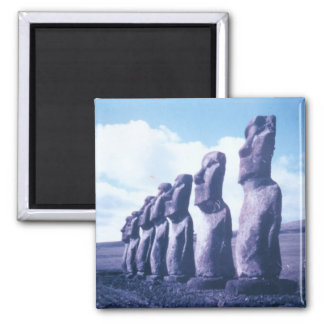 Magnet-Easter Island, Chile Square Magnet