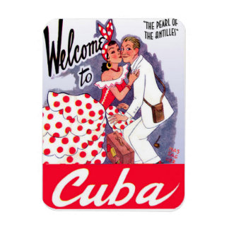 Magnet Flexible Aimant frigorifique Perle Cuba Vintage by