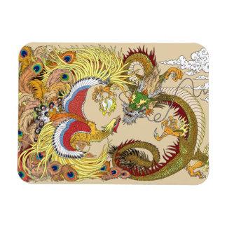 Magnet Flexible Dragon et Phoenix chinois