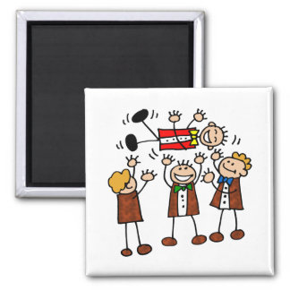 Magnet: Fun with the Boys l Square Magnet