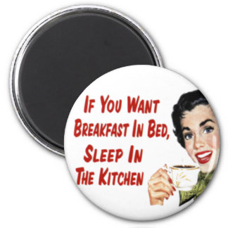 Magnet - Funny Retro Housewife Breakfast