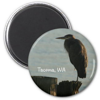 Magnet:  Great Blue Heron 2 Inch Round Magnet