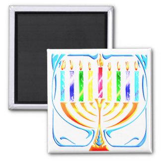 Magnet:  Hanukkah Menorah - Chanukah Menorah Magnet