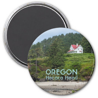 Magnet: House At Hecata Head (Round) Magnet