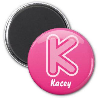 Magnet Letter K Pink