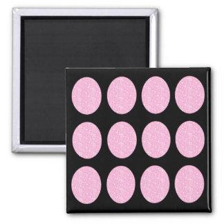 Magnet Pink Glitter Circles On Black