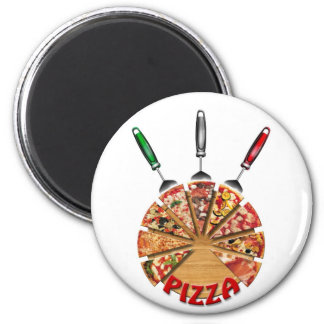 Magnet Pizza on the cutting board