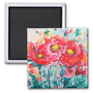Magnet Poppy Flowers
