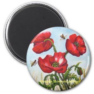Magnet, poppy flowers, magnet