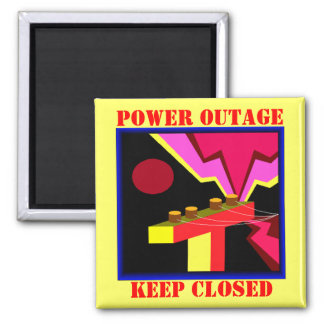 MAGNET Power Outage Fridge refrigerator Warning