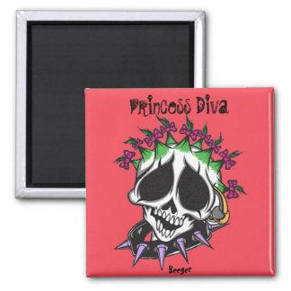 Magnet- Princess Diva Skull Magnet