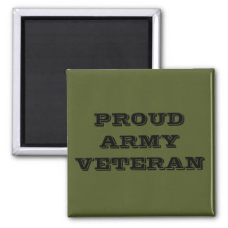Magnet Proud Army Veteran