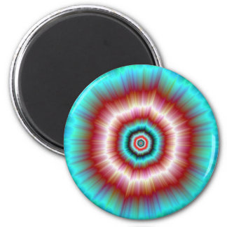 Magnet   Red and Blue Exploding Doughnut