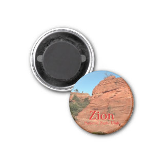 Magnet: Red Rock In Zion (Round) Magnet