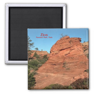 Magnet: Red Rock In Zion Square Magnet