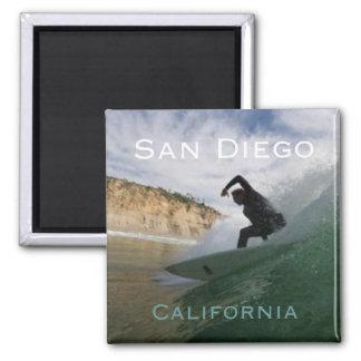 Magnet surfant de réfrigérateur de San Diego la Ca Magnet Carré