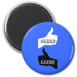 Magnet- Thumbs Up/Down Dishes- Color/Font Choice Magnet