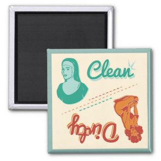 Magnet ~ Vintage Retro Clean/Dirty Dishwasher