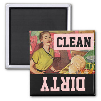 Magnet Vintage Retro Happy Homemaker Dish washer
