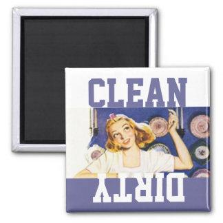 Magnet Vintage Retro Happy Homemaker Dish washer