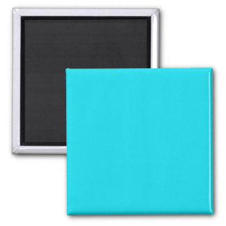 Magnet with Aqua Blue Background