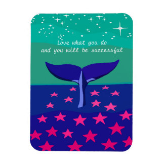 Magnet with beautiful picture of whale