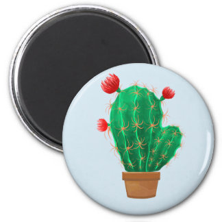 Magnet with cactus